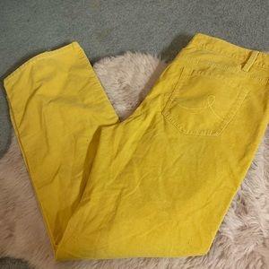 LOFT Pants - LOFT yellow cords